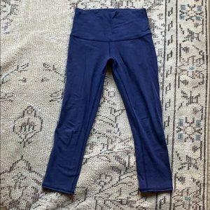 Lululemon super soft navy high waisted leggings